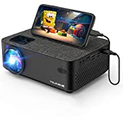 VILINICE Beamer WiFi Mini Projektor Full HD 4800 Lumen Retro Beamer mit 1080p und 240 Zoll unterstützt LED Projektor HDMI VGA USB SD AV Computer Smartphone Home Cinema