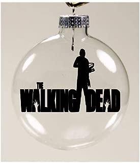Merch Massacre Daryl Dixon Walking Dead Walker Zombie Ornament Glass Disc