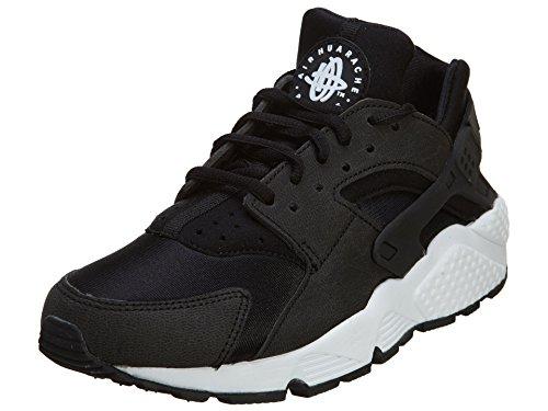 Nike Women's WMNS Air Huarache Run Gymnastics Shoes, Black (Black/White), 4 UK