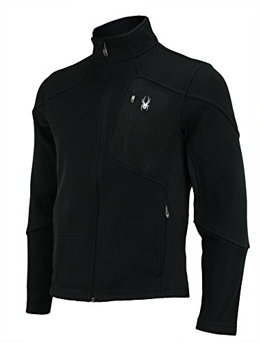 Spyder Men's Linear Core Sweater, Full Zip (Small, Black)