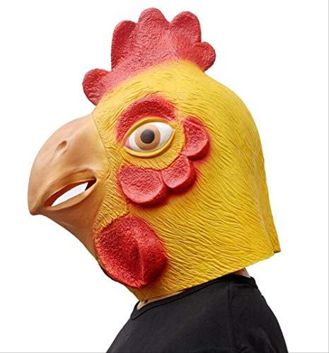 tytlmask Rubber Kippen Hoofd Maskers, Volledig Gezicht Haan Latex Masker, Voor Halloween Dier Prop Carnaval Kostuums Fancy Jurk Feestartikelen