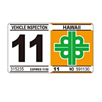 ハワイアン Hawaiian 車検 レプリカ ステッカー 11月