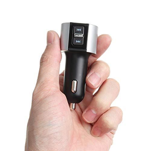 ZWwei Piezas de automóviles Coche Bluetooth MP3 Manos Libres transmisor FM 3.4A Cargador de automóvil Bluetooth Herramientas y Equipos de automóviles