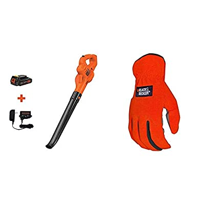 BLACK+DECKER 20V MAX Sweeper with Easy-Fit All Purpose Glove (LSW221 & BD505L)
