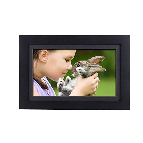 """SimplySmart Home PhotoShare Friends and Family Smart Frame Digital Photo Frame, Send Pics from Phone to Frame, WiFi, 8 GB, Holds Over 5,000 Photos, HD, 1080P, iOS, Android (14"""", Black)"""