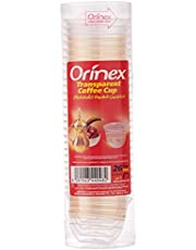 Orinex Transparent Coffee Cup, 26 Pieces, Clear