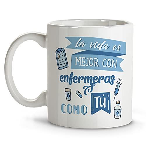 LolaPix Taza Enfermera. Regalos Originales. Tazas Desayuno Originales. Varios diseños. Vida Enfermeras