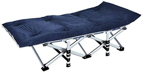 ACoo Silla Plegable otoño e Invierno Oficina reclinable Almuerzo Descanso Cama para Acampar Almohadilla de algodón Cama Plegable Multifuncional