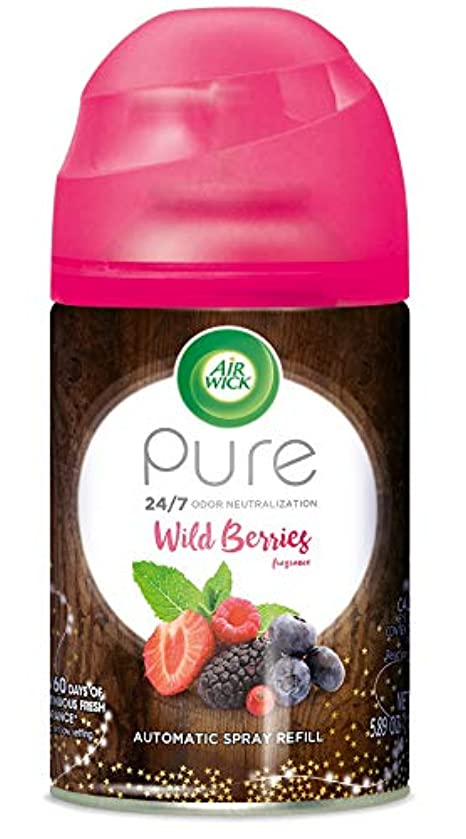 Air Wick Pure Freshmatic Refill Automatic Spray, Wild Berries, 5.89oz, Air Freshener, Essential Oil, Odor Neutralization, Packaging May Vary