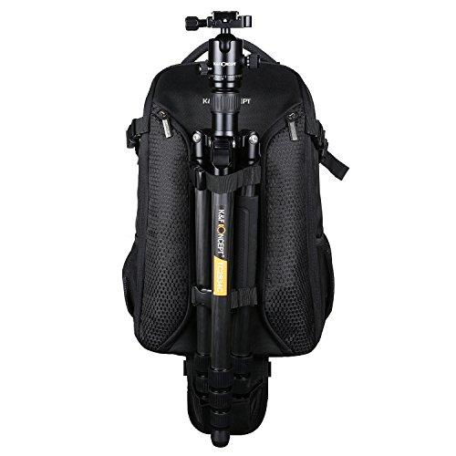 K&F Concept professioneller Fotorucksack Kamerarucksack für 2 Kameras und 15,6 Zoll Laptop mit Regenschutzhülle (inkl. 5 in 1 Reiniungsset)