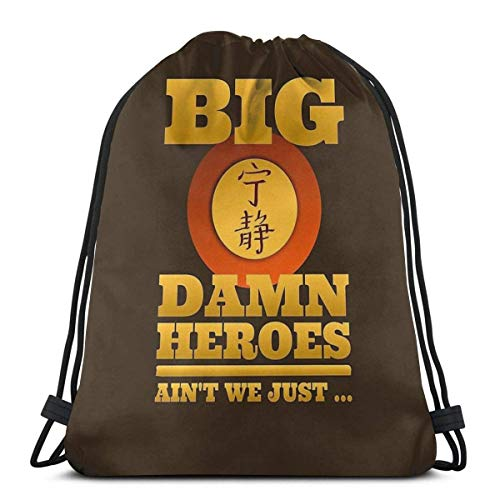 ANGSHI6 Bolsas de Cuerdas Big Damn Heroes Bolsa con cordón Unisex Mochila Deportiva clásica Bolsa de Almacenamiento Bolsa de Viaje