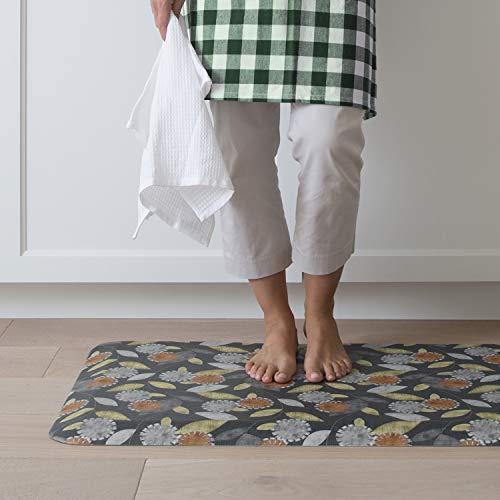 "NewLife by GelPro Decorative Foam Floor Mat, 20"" x 48"", Origami Smokey Night"