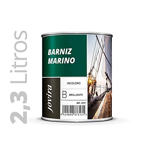 BARNIZ MARINO BRILLANTE (Barniz madera exterior-interior, barniz madera incoloro-transparente) Especial resistencia en ambientes marinos. 2.3 Litros