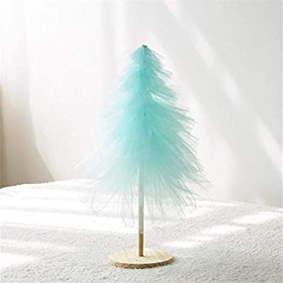 New Pink Christmas Tree Ornaments Mesh Yarn Xmas Tree 50cm 75cm 100cm DIY New Year Gifts for Girls Home Decorations Party Decor-Blue_100cm