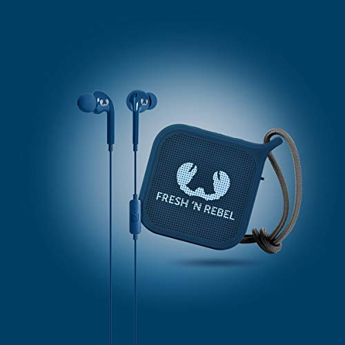 Fresh 'N Rebel Set In-Ear-Kopfhörer Vibe + Lautsprecher Pebble, Indigo