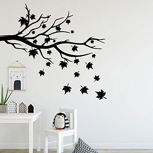 Tianpengyuanshuai Mooie bladverliezende muur sticker mode woonkamer slaapkamer muur sticker waterdicht behang