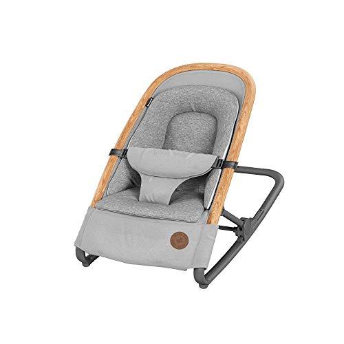 Maxi-Cosi Kori Hamaca bebé ergonómica de balanceo natural, plegable y portátil, color essential grey