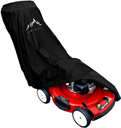 Himal Lawn Mower Cover - Heavy Duty 600D Polyester Oxford Waterproof, UV Protection Universal Fit with Drawstring & Cover Storage Bag
