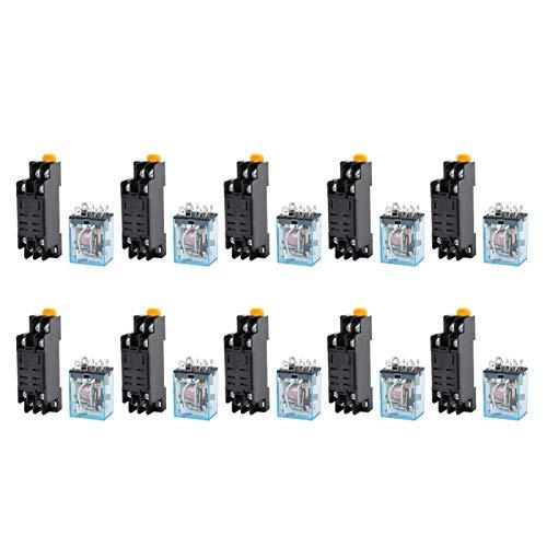 Universelles Leistungsrelais AC220V-Spule Wechselstromspulen-Leistungsrelais Elektrische Ausrüstung für Werkzeugmaschinen mit Sockel für Waschmaschinen