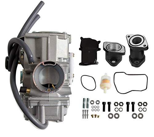 Carburetor With Intake Manifold Compatible with YAMAHA1987-1990&1992-1995 Moto-4 350 YFM350 |1987-2004 Warrior 350 |1987-1998 Big Bear 350 |1996-1998 Kodiak 400 YFM400 |1995 Wolverine 350 YFM35F
