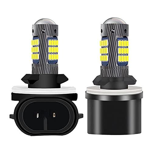 ZIHAN Feil Store 2 unids H27 881 880 Super Brillante LED Frontal Delantero Lámparas antiniebla H27W Anti-Fog Bulbs Auto Duración de la luz Foglamps 6000K White 12V (Socket Type : H27/880)