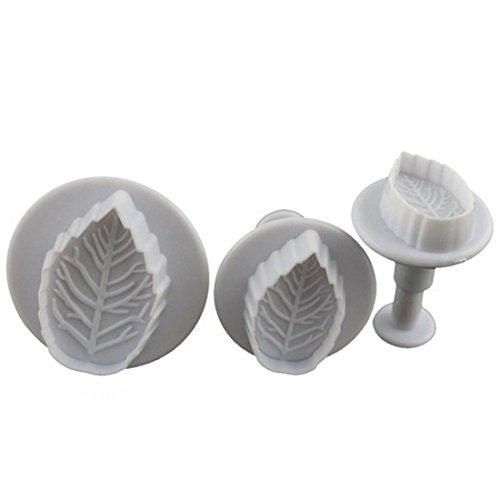 joyliveCY 3Rose Blätter Fondant Kuchen Cutter Dekorieren Sugarcraft kompatibel mitm