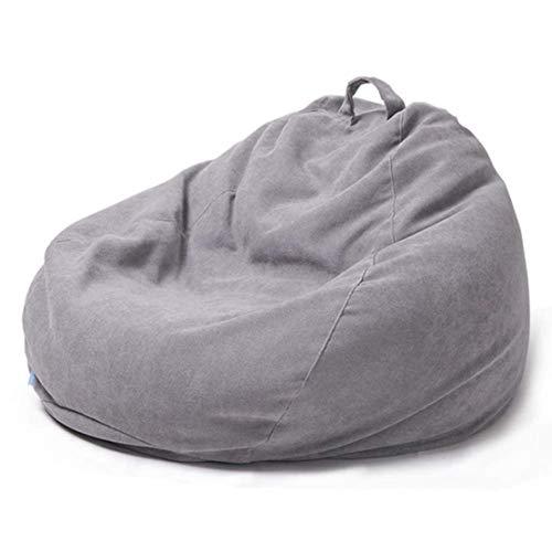 Zachte zitzak, stoffen zitzak, zitstoel, volwassenen, kinderen, loungebank voor lounge en woonkamer, grijs