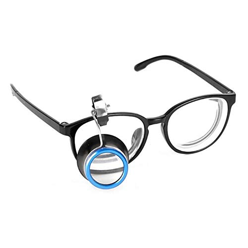 KONGZIR 20X Lupa Lupa Lupa Clip de Gafas de relojería Herramientas del Reloj del joyero Herramientas 5X / 10X / reparación (Color : 10X)