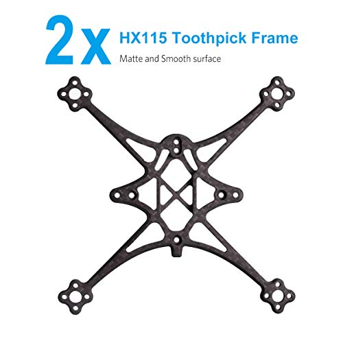 BETAFPV 2pcs HX115 Toothpick Frame T700 Carbon Fiber Frame Kit Matte and Smooth Material for HX115 Toothpick Quadcopter F4 2-4S 12A AIO Toothpick FC