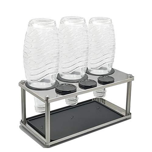 HunDun Sodastream Flaschenhalter aus Edelstahl, Abtropfhalter für z.B Soda Stream Crystal, Easy, Fuse, Emil UVM Flaschen
