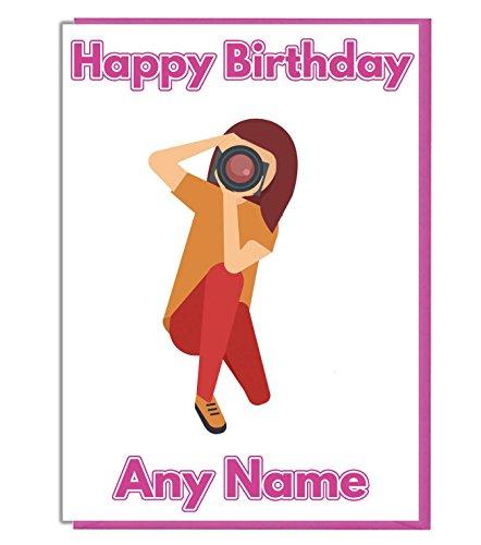 AK Giftshop Gepersonaliseerde Fotograaf Fotografie Thema Verjaardagskaart - Mama - Nan - Zuster - Tante - Vriend - ADD A NAME AND AGE