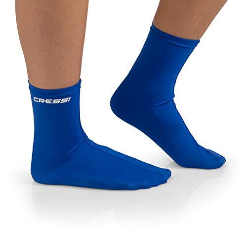 Cressi Wassersport Ultra Stretch Lycra Socken Italienische Qualität seit 1946, Unisex, USW030000B, blau, Für Erwachsene
