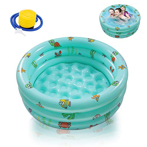 Ucradle Piscine Gonflable, Baignoire Gonflable Ronde...