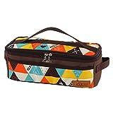 ANAJOY Bolsa de almacenamiento para utensilios de cocina para camping, barbacoa y camping con bolsillos de malla (multicolor)