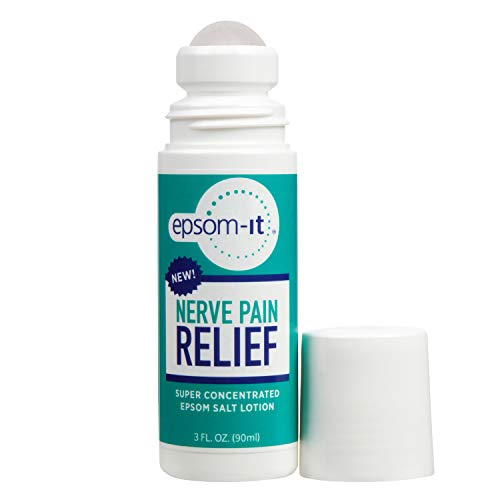 """EPSOM-IT NERVE PAIN RELIEF Super-Concentrated Roll-On Magnesium Sulfate Cream with Arnica, Capsaicin and Aloe Vera for """"Pins and Needles"""" Nerve Pain, Numbness and Peripheral Neuropathy (Rollerball)"""