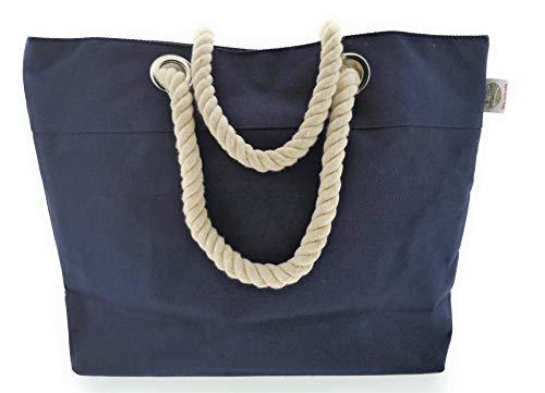 MC Trend XL bolsa de playa comprador con bolsillo interior bolsa de playa grande bolso de hombro para las vacaciones 54 x 37 x 17 (Azul)