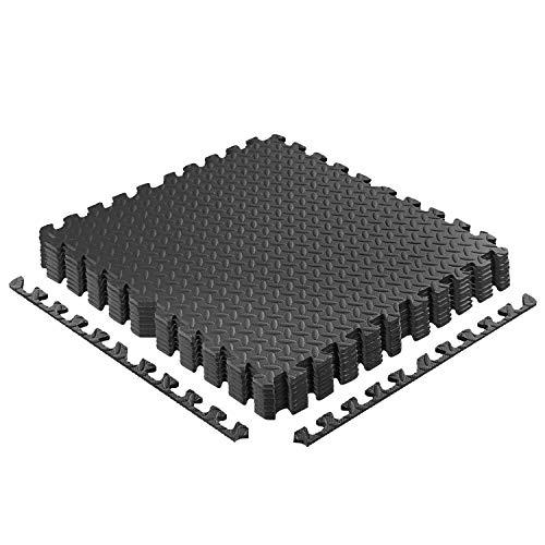 CCLIFE 60x60 30x30 Bodenschutzmatte Schutzmatte Fitness Unterlegmatten Bodenmatte Schwarz Holzoptik Grau 8er 16er 24er 18er 32er