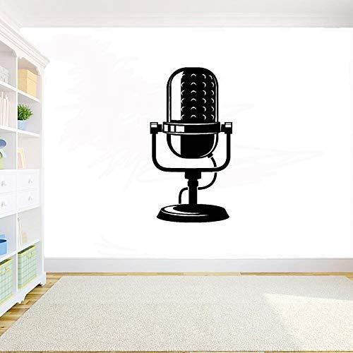wZUN Calcomanías de Vinilo para Pared, micrófono, Sala de música, decoración, Pegatinas, Estudio de música, calcomanías, decoración del hogar, 79X42 cm