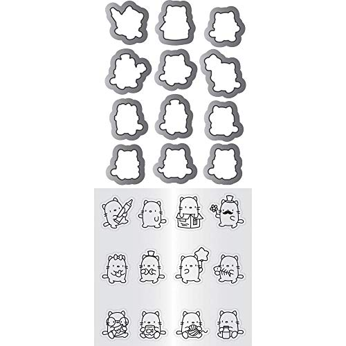 Hampton Art Mama Elephant Clear Stamp & Die Set 4.125'X10.5'-Mini Cat Agenda