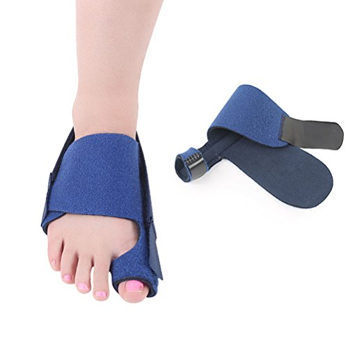 Healifty Zehenkompressionsorthese Big Toe Schienen Bunion Corrector Toe Separator Haarglätter für Frauen Männer (blau)