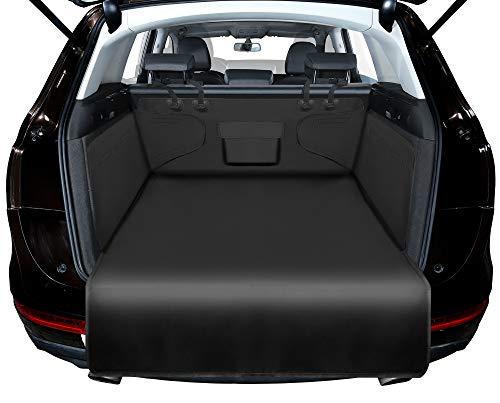 Alfheim Universal Kofferraumschutz - wasserabweisend & pflegeleicht - Ideale Autodecke für Hunde - Schwarze Kofferraummatte mit Ladekantenschutz (Schwarz)