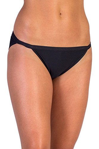 ExOfficio Women's Give-N-Go String Bikini, Black, Medium