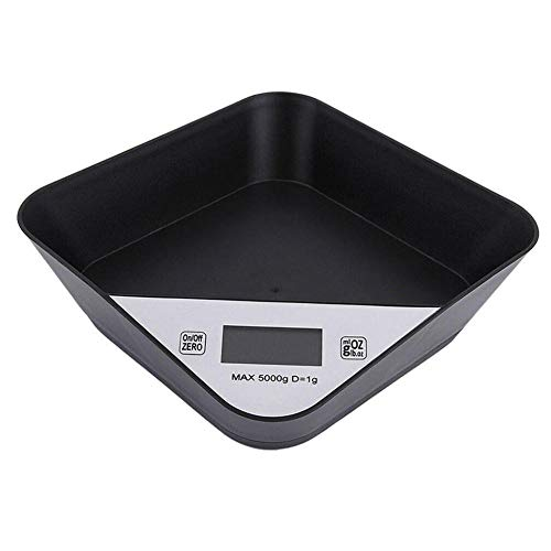 Voedsel Weegschaal Duurzaam Puppy Multifunctioneel Mini ABS Op batterijen Meten Keukenweegschaal Home Lcd-scherm Digitaal gereedschap Zwart
