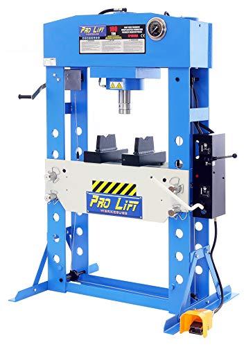 Pro-Lift-Werkzeuge Hydraulik-Presse 100 t Werkstattpresse Pneumatik-Antrieb Handpumpe und Fußpumpe Industriepresse umformen Shop-Press Abkantpresse verschweißt 100t Werkstatt