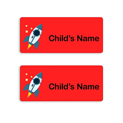 My Nametags 56 School Name Label Stickers - Clothes, Equipment and Shoes (Space)