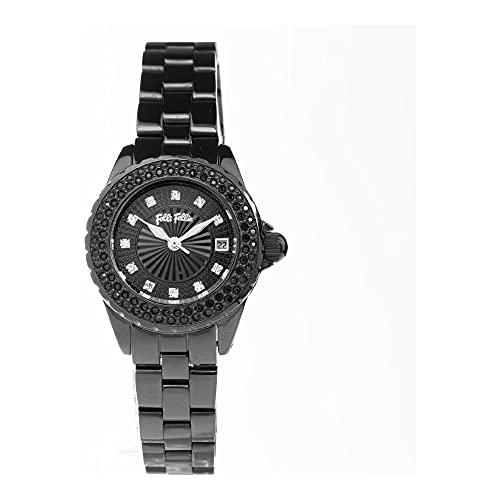 Folli Follie Reloj Análogico-Digital para Mujer de Automático con Correa en Acero Inoxidable S0357015