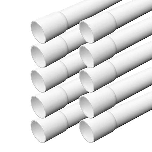 Elektrorohr M32 Stangenrohr 10 m Leerrohr PVC gemufft Installationsrohr ARLI Rohr Kanal