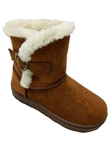 Garanimals Toddler Girls Brown Faux Suede Heart Boots Dress Shoes 6
