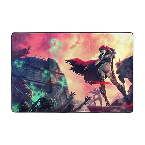 Alfombra de World Warcraft adecuada para sala de estar, dormitorio, zona de niños, decoración de casa de arte suave y cómoda, 91,4 x 60,9 cm