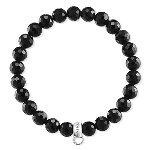 Thomas Sabo Women Charm Bracelet Black 925 Sterling...